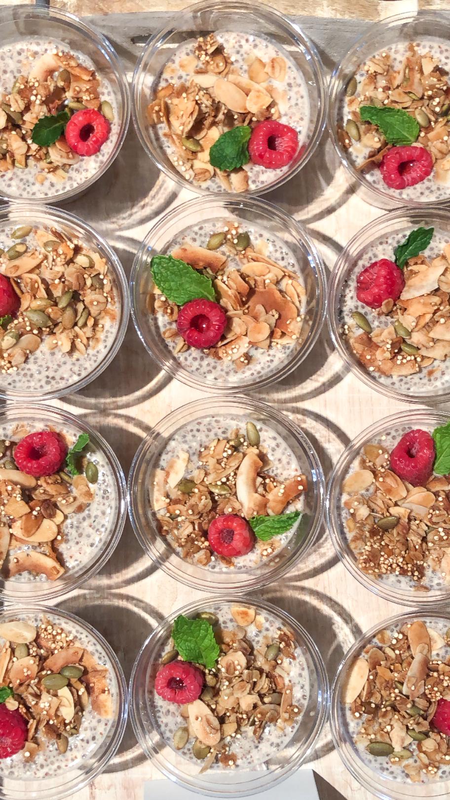 Chai Chia Pudding Parfaits Homemade Crunchy Granola.