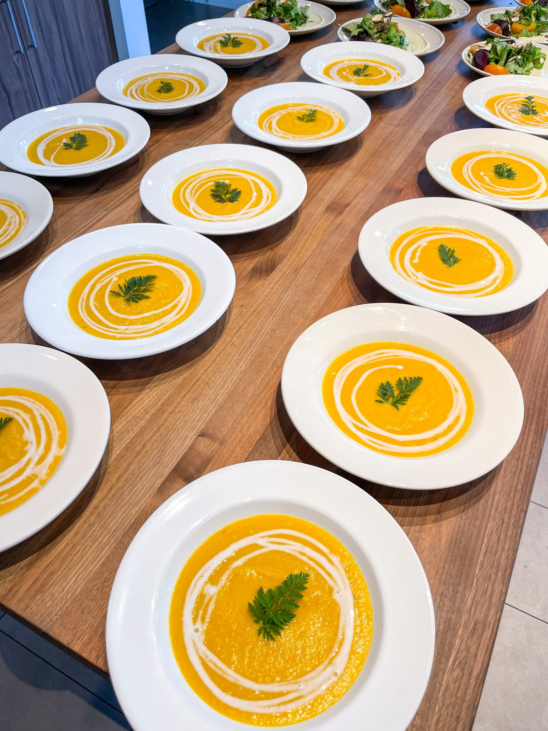 Roasted Yellow Carrot & Butternut Squash Soup - boutique catering