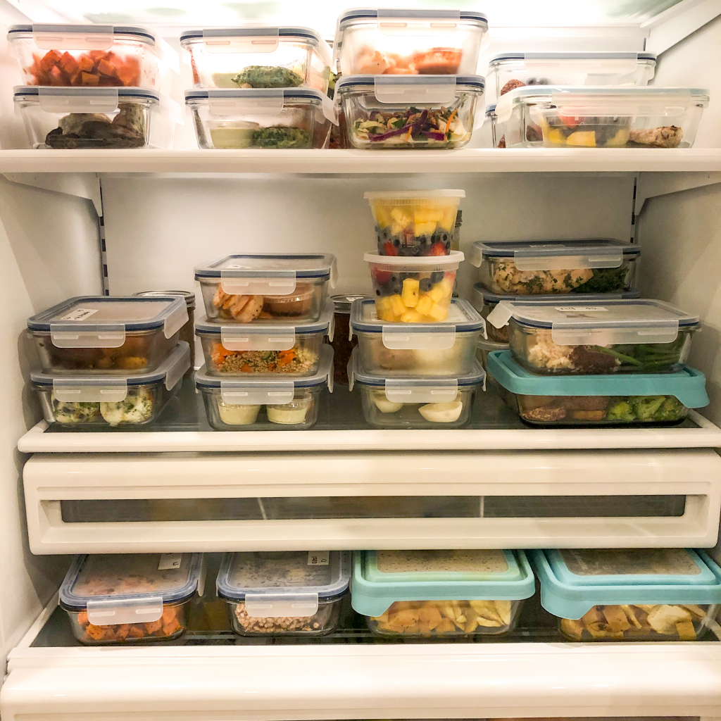 private meal prep chef in winter park florida - full fridge